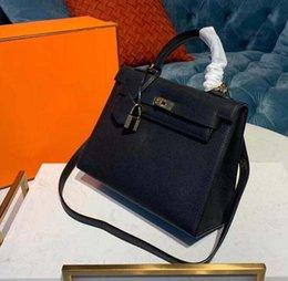 $enCountryForm.capitalKeyWord Australia - New Luxury Designer Leather Lock kelly Hand Bags Leather Women Handbags Ladies Shoulder Bags Original leather Classic Women Messenger 11