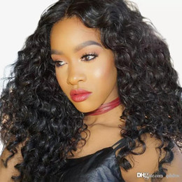 $enCountryForm.capitalKeyWord NZ - Human Hair Wigs Loose Curl With Baby Hair Pre Plucked Glueless Virgin Brazilian Loose Wave Lace Wig For Black Women