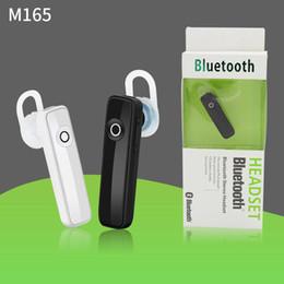 M165 fones de ouvido bluetooth sem fio fones de ouvido estéreo mini fones de ouvido bluetooth handsfree fone de ouvido com microfone para iphone samsung telefone inteligente em Promoção
