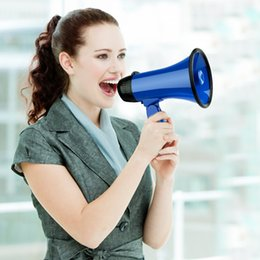 $enCountryForm.capitalKeyWord Australia - Mealivos Blue Portable Megaphone 20 Watt Power Megaphone Speaker Bullhorn Voice And Siren Alarm Modes