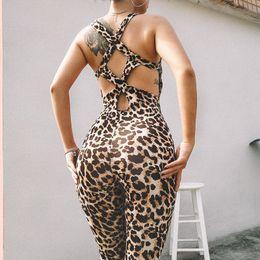 Womens Jumpsuits Arrivals Australia - Fashion New Arrival Womens Jumpsuits Casual Summer Sexy Sleeveless Women Jumpsuits Hot Women Leopard Rompers Tops Clothing