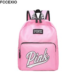 Wholesale 2019 New Backpack Women Leisure Back Pack Pink Backpack Travel Softback School Bag School Backpack For Girls Bagpack Set