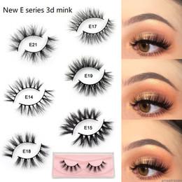 $enCountryForm.capitalKeyWord Australia - New E series Mink Lashes 3D Mink Eyelashes 100% Cruelty free Lashes Handmade Reusable Natural Eyelashes Popular False Lashes Makeup 21 style