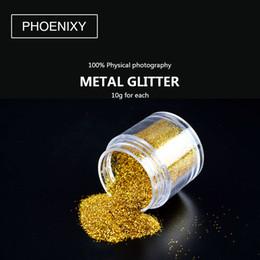 $enCountryForm.capitalKeyWord Australia - 12PCS Platinum Shiny Nail Glitter Powder Laser Sparkly Diamond Manicure Nail Art Chrome Pigment DIY Nail Art Decoration
