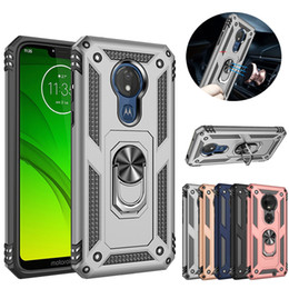 bumper ring case Australia - Magnetic Metal Ring Phone Case On The For Motorola E6 Silicone Armor Bumper Stand Cover For Moto G7 Power G7 Play Coque G7 plus