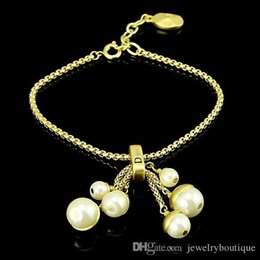 23cm Silver Bracelets Australia - Top quality 316L stainless steel Bracelet with pearls and lobster Bracelet in 23cm for women and mother gift and lover jewerly PS5221A