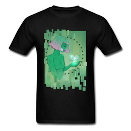 $enCountryForm.capitalKeyWord NZ - Wifi Love Novelty 2018 Men Black Green T Shirt Crewneck Cotton Tops T-shirts Cartoon Anime Alien Girl Drawing Tee