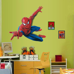 $enCountryForm.capitalKeyWord Australia - Cartoon Spiderman Wall Decal Marvel Wall Poster Vinyl Superhero Wall Art Sticker for Kids Room Boys Room Decor Marvel Spider Man Wallpaper