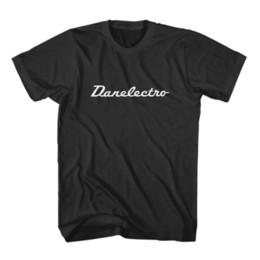Yellow Black Custom Guitar UK - Danelectro Guitars Logo Men's T-Shirt - Custom ShirtFunny free shipping Unisex Casual Tshirt