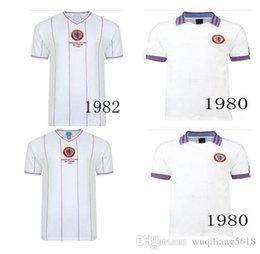 soccer aston villa UK - 1982 Retro Version Aston Villa Soccer Jersey 1980 Aston Villa White Short sleeve TOP QUALITY Football shirt uniform
