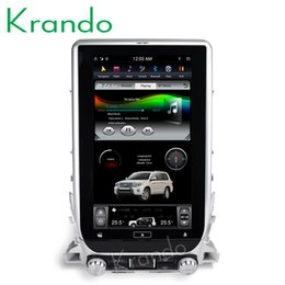 "touch screen toyota NZ - Krando Android 8.1 13.6"" super Tesla Vertical touch screen car multimedia player radio For Toyota Land Cruiser 200 2016+ car dvd KD-TL136"