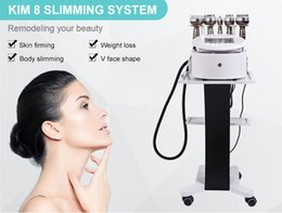 rf face slimming machine Australia - Newest Kim 8 Slimming System Ultrasound Liposunction Tripolar Multipolar Radio Frequency Skin Firming V Face Shape 5IN1 RF Slimming Machine