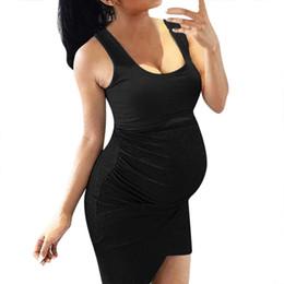 $enCountryForm.capitalKeyWord Australia - Women Maternity Dresses Summer Sexy Solid Strap Bodycon Nursing Dress Casual Breastfeeding Pregnancy Clothes Zwanger Jurk 19apr2
