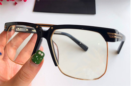 Optical quality frames online shopping - Fashion popular optical glasses classic square half frame top quality simple and generous style protection transparent eyewear