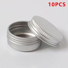 $enCountryForm.capitalKeyWord Australia - 10pcs 12ml Aluminum Cream Jar Pot Nail Art Makeup Lip Gloss Cosmetic Metal Tin Containers Empty Cosmetic Metal Tin