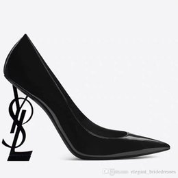 $enCountryForm.capitalKeyWord NZ - 2019 Designer Women High Heels Leather Shoes Pointed Toe Bride Wedding Evening Prom Party Dress Shoes For Sexy Ladies Fashions Black Pumps