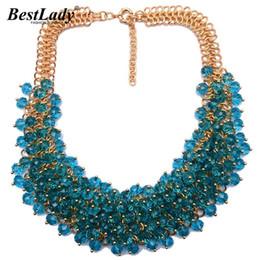 Best Wedding Pendant Australia - Best Lady Women Statement Luxury Vintage Crystal Colorful Gem Necklace &pendants Good Quality Hot Collar Necklace Jewelry B333 J190525