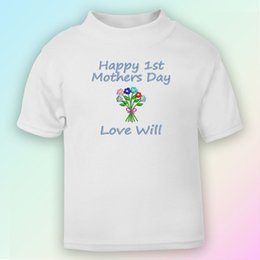 $enCountryForm.capitalKeyWord Australia - Happy 1st Mother's Day - Flowers Embroidered Baby T-Shirt Gift Personalised Funny free shipping Unisex Casual Tshirt top