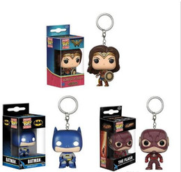 batman figure wholesale Australia - Funko Pocket POP Keychain - The flash Batman DC Vinyl Figure Keyring with Box Toy Gift Good Quality