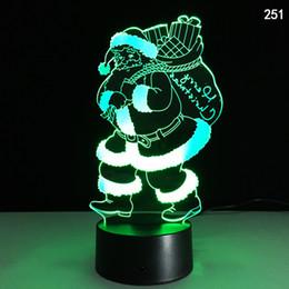 Neuheit 7 farben Weihnachten Vater Acryl 3D Nacht Illusion Nachtlicht USB Touch Kreative Nachttischlampe Schreibtischlampe LED Nachtlicht