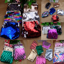 $enCountryForm.capitalKeyWord NZ - New Handmade Random Color Sequins Coin Purse for Women wallet with Metal Buckle 21 Colors for choices