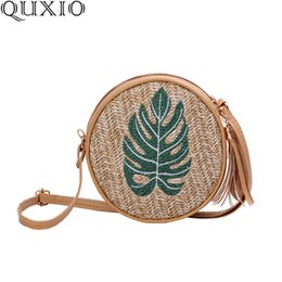 boho bags wholesale NZ - 2019 Summer New Straw Messenger Bag For Women Bohemian Style Weaving Shoulder Bags Ladies Boho Beach Circle Bag WZH01