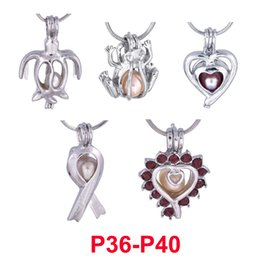 Pendant Designs For Gems Australia - 300 designs pearl cage pendant Silver Love wish gem beads cages locket DIY charm pendants mountings For Jewelry Making