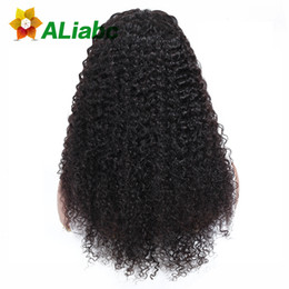 $enCountryForm.capitalKeyWord UK - Aliabc Brazilian 13*4 Lace Front Closure Kinky Curly 100% Human Hair Wigs For Black Women Natural Color Remy Hair Extensions Y190713