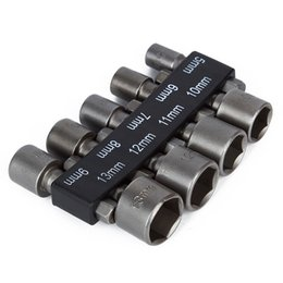 $enCountryForm.capitalKeyWord Australia - Tools Drill 9pcs set 5mm-13mm 1 4 Inch Hex Shank Socket Sleeve Nozzles Nut Driver Bit Set Drill Bit Adapter Hex Power Tools