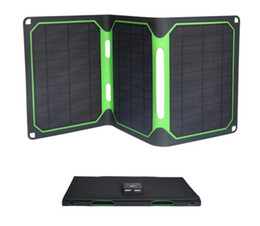 $enCountryForm.capitalKeyWord Australia - Portable 18W quick-charge solar panel charging Bao mobile power source ETFE laminated solar folding charger