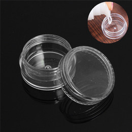 glitter pots UK - Plastic 5ml Cosmetic Jar Empty Eyeshadow Case Face Cream Bottles Glitter Container Eye Shadow Empty Nail Pots Beauty Tool
