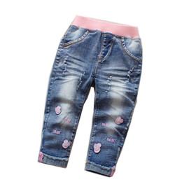 Jeans Children Cartoon Australia - Brand Kids Cartoon Trousers Pant Fashion Girls Jeans Children Boys Hole Jeans Kids Fashion Denim Pants Baby Jean Infant Clothing