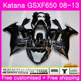 gsxf fairings UK - Kit For SUZUKI KATANA GSX650F GSXF 650 GSXF-650 08 09 10 11 12 13 14 14HM.1 GSXF650 2008 2009 2010 2011 2012 2013 2014 Fairing Top ALL black