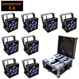 $enCountryForm.capitalKeyWord Australia - TIPTOP Wifi Uplight RGBWA UV 6IN1 Battery Powered Wireless DMX LED Par Light 6X18W Tyanshine 6 color 8in1 charging flight case pack