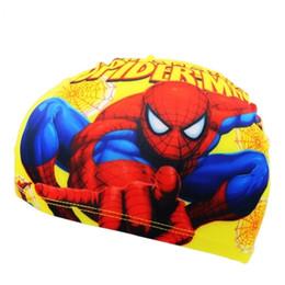 $enCountryForm.capitalKeyWord Australia - Boys Baby Spiderman Cap Quick Dry Lovely Children Cartoon Swimming Cap Kid Beach Hat Elasticity Kids Swim Hat Caps Bathing Hats C19040302