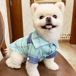 $enCountryForm.capitalKeyWord Australia - Spring and summer new pet clothes multicolor optional cotton breathable comfortable plaid shirt pet supplies factory direct