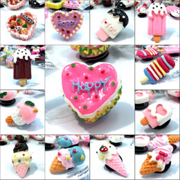 d23835b59707db 1Pcs Lovely Cake Resin Shoe Charms Shoe Accessories Decoration