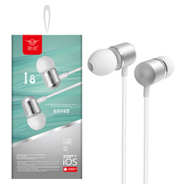 iphone earphones metal Australia - Wired Earphone With Mic Volume Control Metal Noise Cancelling Headset Wire In Ear Headphones 3.5mm Jack Earset HIFI Mini Earbuds For Android