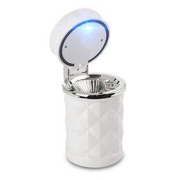 $enCountryForm.capitalKeyWord UK - Portable Car Ashtray Smokeless Auto Cigarette Ash Holder with Blue LED Light for Car Cup Holder LED Cigarette Smoke car Ashtray
