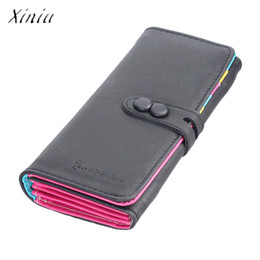 small pocket coin holder UK - New Fashion Wallet Women Small Fresh Wallet Mobile Phone Bag Leather Hasp Long Design Purse Women's Wallets dames portemonnee
