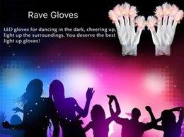 $enCountryForm.capitalKeyWord Australia - 500pairs lot LED Gloves Flashing Multicolor Led Optical Fiber Magic Gloves Light Gloves for Event Party
