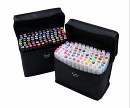 Hot TouchFIVE 80 Dual Color Headed Art Marqueurs Set marqueurs Artiste Sketch Grasses à base d'alcool pour l'animation Manga fournitures scolaires de stylos de luxe en Solde