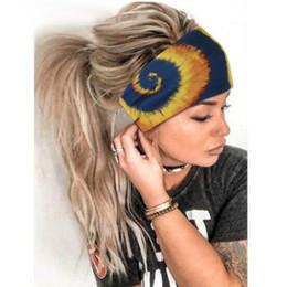 Kadınlar için Bantlar, Bohemian Stil Yoga Elastik Kafa Kafa Wrap Elastik Türban Kumaş Hairbands Moda Saç Aksesuarları JK2006XB