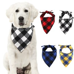 $enCountryForm.capitalKeyWord NZ - Pet Bandanas Saliva towel for Pet Dog For puppy Cotton Double thickening comfortable Plaid