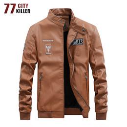 $enCountryForm.capitalKeyWord NZ - 2019 New Leather Jacket Men Motorcycle Fleece Liner PU Leather Mens Jackets Outwear Windbreaker Faux Coats Male M-4XL