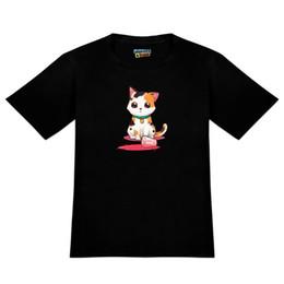Novelty Glasses Black UK - Kawaii Cute Cat Spilled Glass of Water Men's Novelty T-Shirt Brand shirts jeans Print