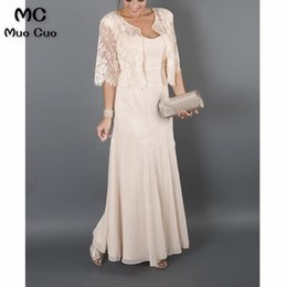 $enCountryForm.capitalKeyWord Australia - Plus Size Elegant With Jacket Lace Chiffon Mother Of The Bride Dresses For Weddings SH190708