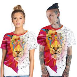 $enCountryForm.capitalKeyWord NZ - wild Lions digital print mens sport T-shirt with round neck short sleeves couple t shirt factory direct sale fashion