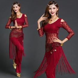 Dance Garments Australia - New Belly Dance Suit Women Practice Clothes Female Indian Dancing Performance Professional Costumes Oriental Dance Garment H4530