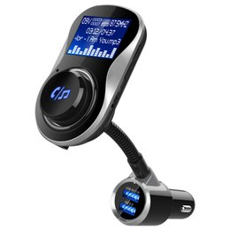 $enCountryForm.capitalKeyWord Australia - Bluetooth FM Transmitter Handsfree Wireless MP3 Player 360 Rotatable Aux Car Audio Kit With 2-Port USB Fast Charger